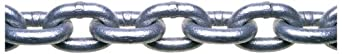 "Campbell 0143336 System 3 Grade 30 Low Carbon Steel Proof Coil Chain in Square Pail, Hot Galvanized, 3/16"" Trade, 0.21"" Diameter, 150' Length, 800 lbs Load Capacity"
