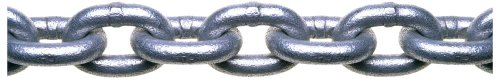 tem 3 Grade 30 Low Carbon Steel Proof Coil Chain in Square Pail, Hot Galvanized, 3/16