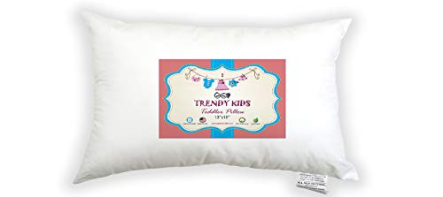 Trendy Kids 13×18 Toddler Pillow 100% Cotton Baby/Toddler/Travel Pillow 300TC Percale – No Extra Pillowcase/Sham Needed…