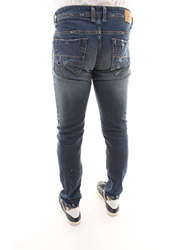 Diesel 084yy Jeans Denim Uomo Straight Blu 01 Blue qqwZ0nrU