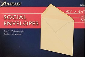 - Ampad Ivory A6 Envelopes (4 3/4