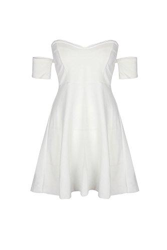 YACUN Damen Mini Brautjungfer Kleid ALine Umfasst Partei Schulter Ab ...