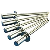 100 POP Rivets All Aluminum CLOSED/SEALED END 6-6 3/16'' Dia x 3/8'' Max Grip