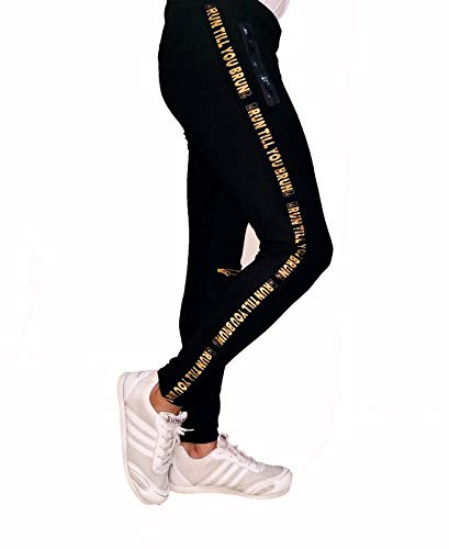 Buy Brun Joggers Track Pants For Men S Gym Slim Boys Double Zip Pockets Black At Amazon In