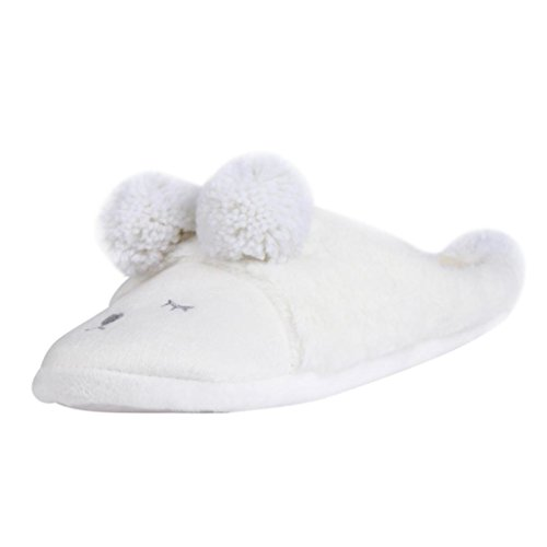 Womens Winter Boots, Egmy Plush Slipper Cartoon Creative Men And Women Slippers Winter House Shoes White