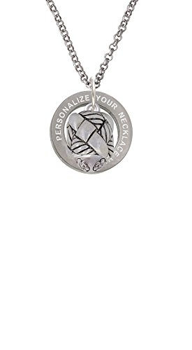 (Delight Jewelry Antiqued Woven Rope Spinner Custom Engraved Affirmation Ring Necklace)