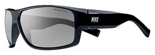 Nike Eyewear Men's Expert  EV0700-001 Rectangular Sunglasses, Black, 65 mm