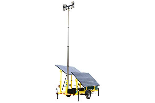 1.59KW Solar Power Generator with Pneumatic Light Tower Mast - (4) 100 Watt LED Lights -  Larson Electronics LLC, SPLT-159K-400A-30-4X100W-LED