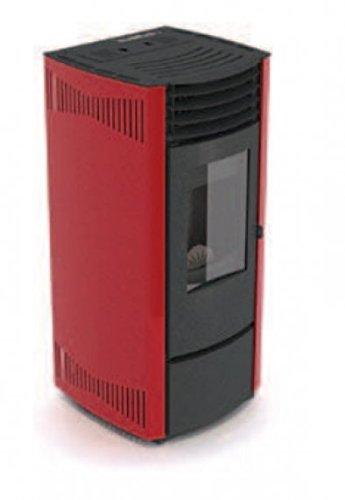 Eva calor – Estufa de pellets Mary Potencia térmica 13.5 KW Color Rojo