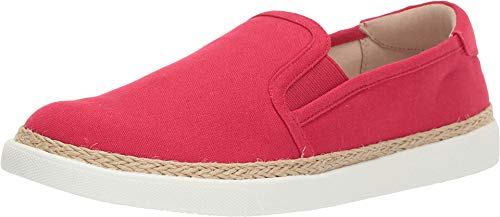 Ladies Slip Ons - Vionic Women's Sunny Rae Slip-on Sneaker - Ladies Sneakers Concealed Orthotic Arch Support Cherry 9 M US