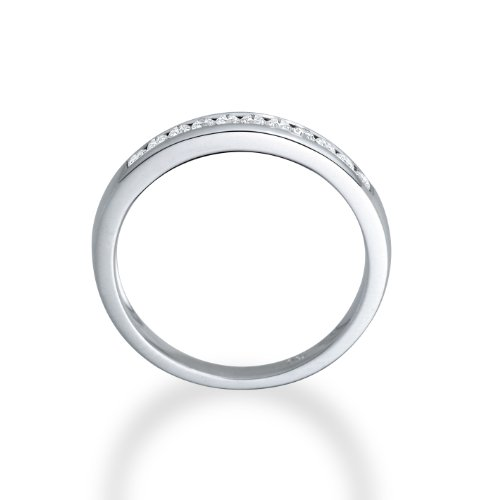 Miore - Bague Femme - Or Blanc 750/1000 (18 Carats) - Diamant 0.2 cts