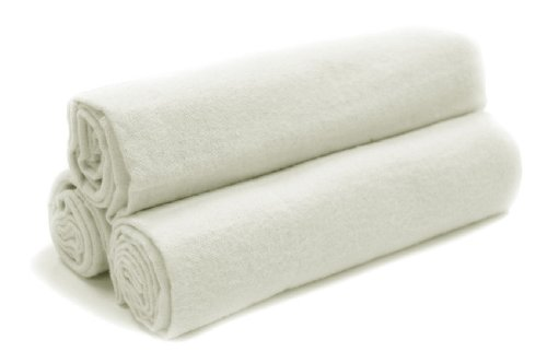 Tadpoles Organics Set of 3 Flannel Receiving Blankets, White