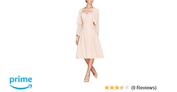 98917607a30 LANSITINA Plus Size Mother of The Bride Dresses Tea Length Mother of The  Groom Dresses for Wedding with Jackets at Amazon Women s Clothing store