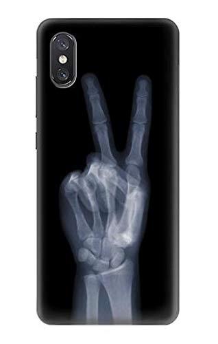 (R3101 X-ray Peace Sign Fingers Case Cover for Xiaomi Mi 8 Pro, Mi 8 Explorer)