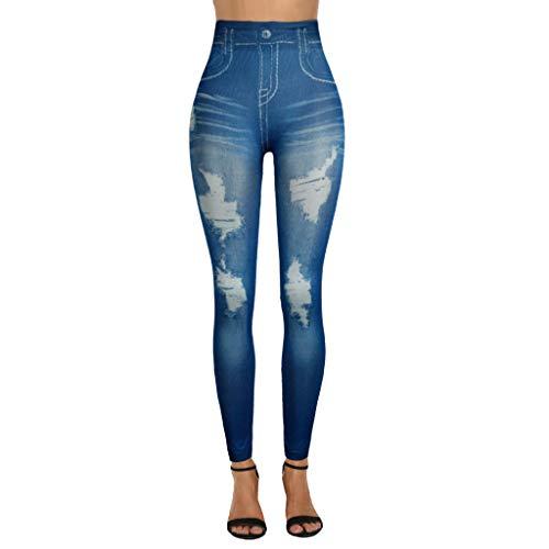 Mnyycxen Skinny Jeans High Waist Slim Leggings Denim Stretchy Jeggings Seamless Yoga Pants