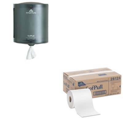 KITGEP28124GEP58204 - Value Kit - Georgia-Pacific SofPull 58204 Translucent Smoke Regular Capacity Centerpull Paper Towel Dispenser (GEP58204) and Georgia Pacific Center-Pull Perforated Paper Towels ()