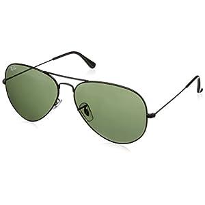 Ray-Ban Sunglasses - RB3026 Aviator Large Metal II / Frame: Black (62mm) Lens: Green