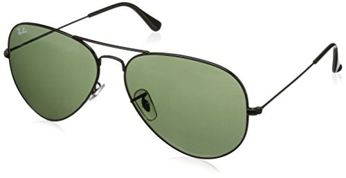 Ray-Ban Sunglasses - RB3026 Aviator Large Metal II / Frame: Black (62mm) Lens: Green by Ray-Ban