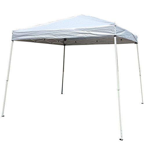 Z ZTDM Easy Pop-Up Instant Event Canopy Gazebo Party Tent Folding Portable Shelter Slant Leg with Carrying Bag-10′ x 10′ White