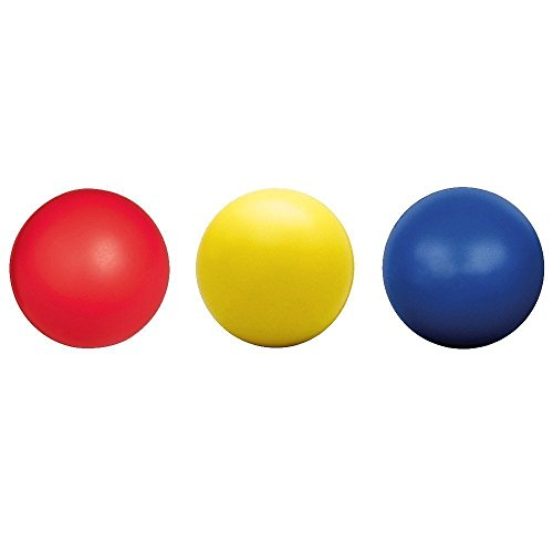 HnF Plain Stress Relief Balls (3 Balls in 1 Pack) Plain 100% Foam and Squishy - Great for Hand Exercises and Educational Purposes. - Phthalate & Non-Toxic Free and Latex-Free - (Colors as Shown)