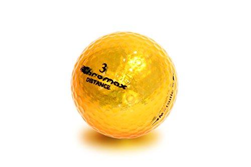 Chromax High Visibility Distance Golf Balls 6-Pack - Gold Gold Golf Ball