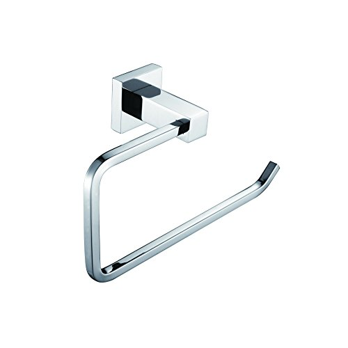 Square Modern Bathroom Accessories Solid Brass Towel Ring Chrome ...