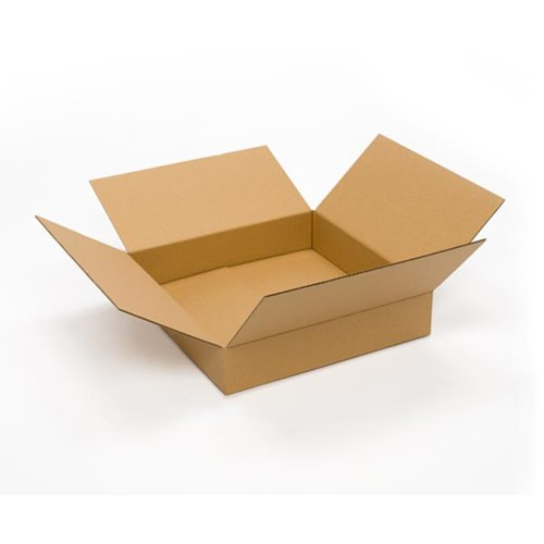 "Pratt PRA0118 100% Recycled Corrugated Cardboard Box, 20"" Length x 20"" Width x 4"" Height, Kraft"