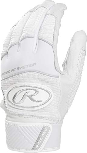 Rawlings WH950BG-W-89 Workhorse Batting Gloves, White