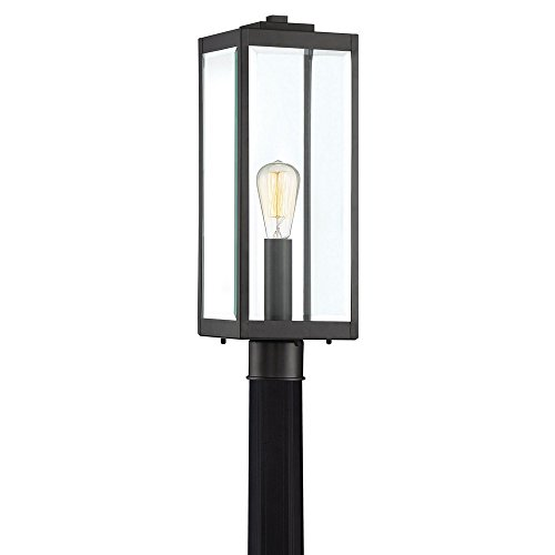 (Quoizel WVR9007EK Westover Modern Industrial Outdoor Post Mount Lighting, 1-Light, 150 Watt, Earth Black (21