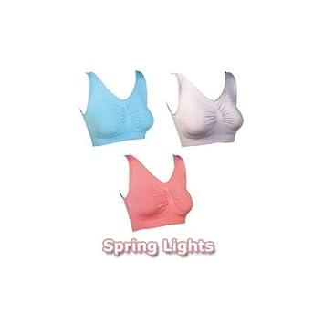 Comfortisse Sujetador Top. Único Santini tela para Amazing comodidad y estilo. Primavera luces Pack 3-small: Amazon.es: Salud y cuidado personal