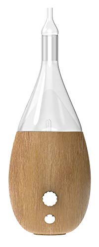 VINEVIDA Raindrop Nebulizer - Nebulizing Essential Oil Diffuser - Waterless diffuser For Essential Oils Aromatherapy - Wood Base, Glass Top - Fills Rooms With Pure and Natural Aromas (Light Wood)