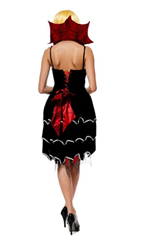 Smile YKK One Size Spinne Design Damen Halloween Cosplay Rollenspiel Kostüm Schwarz