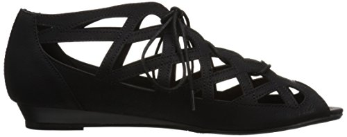 Black CL Women's by Laundry nubuck Sandal Starina Chinese fYq1YwZr