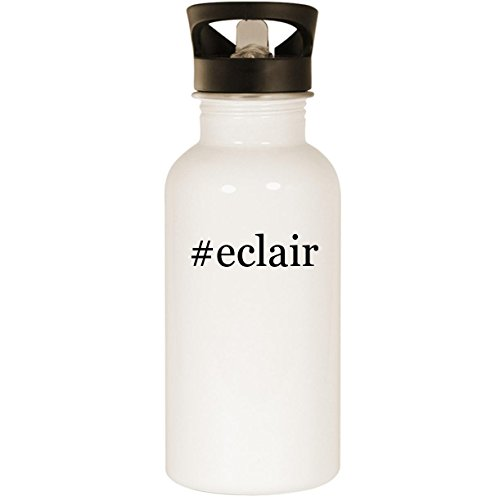 #eclair - Stainless Steel Hashtag 20oz Road Ready Water Bottle, White (Chat Ca Duck)