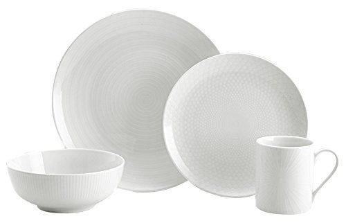 Mikasa 5224196 40 Piece Cheers Dinnerware Set, White (Mikasa Collection Cheers)