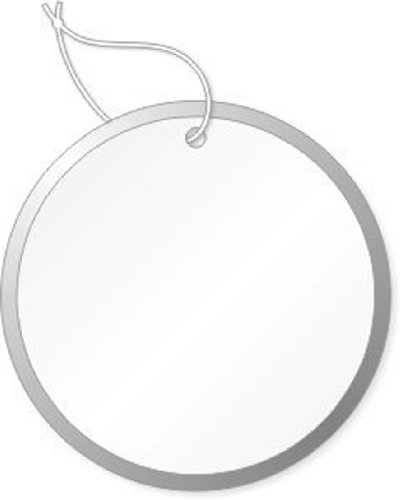 Round Tags with Metal Rims, 1-1/2 inch, White with Knotted String Attached, Box of 500 (Metal Rim White)