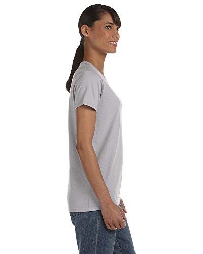 Gildan Ladies' 5.3 oz. Heavy Cotton Missy Fit T-Shirt - ASH GREY - - Grey T-shirt Others Ash