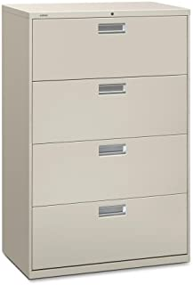 "product image for HON 600 Series Standard Lateral Files w/Locks-4 Drawer Lateral File W/Lock, 36""x19-1/4""x53-1/4"", Gray"