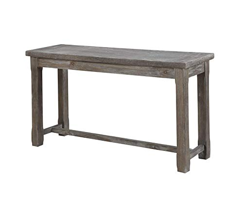 Furniture Paladin Rustic Charcoal Gray Sofa Table with Plank Style Top and Farmhouse Timber Legs Premium Office Home Durable Strong (Paladin Furniture)