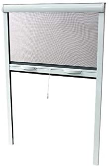 Volet-Mousquitaire - Mosquitera enrollable para puerta (220 x 130 cm, aluminio): Amazon.es: Jardín