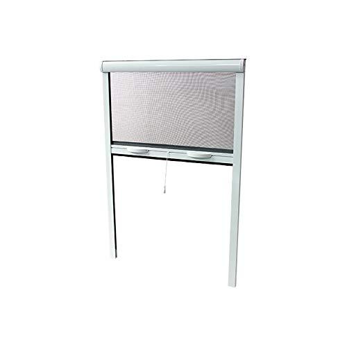 Moustiquaire Enroulable Alu H.220 x L.130 cm Blanc pour porte et porte-fenetre