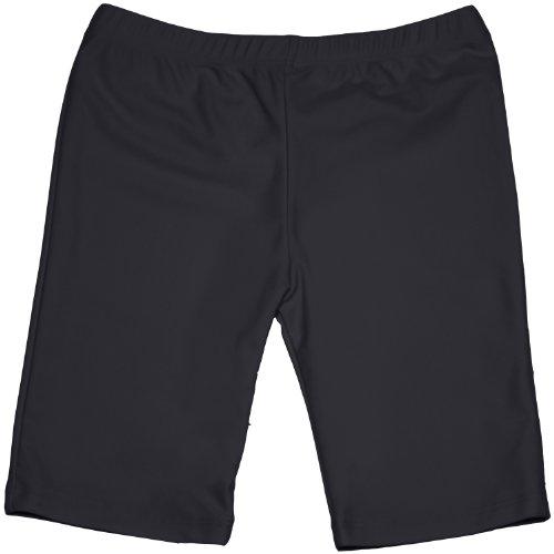 grUVywear UV Sun Protective (UPF 50+) Girls Long Shorts -Black XL 11-12 by grUVywear