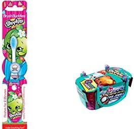 Shopkins Toothbrush Flashing Light and Bonus Shopkins Season 3 Single Blind Basket Bundle- 2 Items