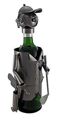 Ky & Co YesKela Golfer with Bag Wine Bottle Holder 13.5