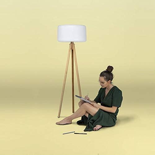Chloe - Lámpara de pie de exterior con trípode LED RGB solar ...