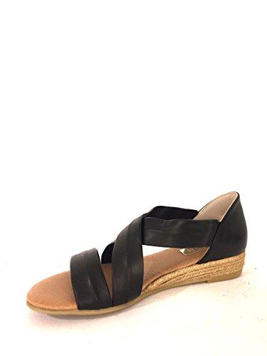 Sandalias Zeppa sh952de piel con tacón medio cuerda fascie mainapps negro