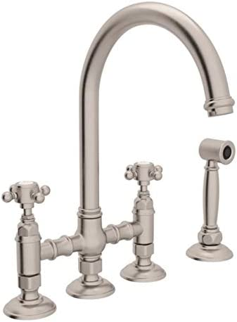 ROHL A1461XMWSSTN-2 KITCHEN FAUCETS, Satin Nickel