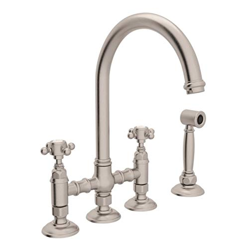 (ROHL A1461XMWSSTN-2 KITCHEN FAUCETS Satin Nickel)