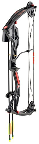 - PSE Youth Heritage Compound Bow Set, Black, 8-26-Pound, Right Hand