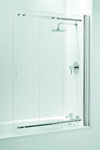 Coram Duschen ssl2105cuc 1400mm x 650-1065mm Duschschiebetür Schiebetür Bad Bildschirm mit 5mm dick klar Glas-Chrom